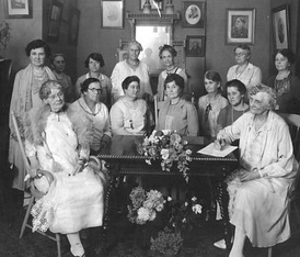 Women of the WCTU at a meeting, 1924