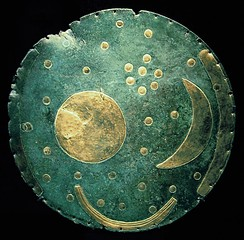 The Nebra sky disk from the Bronze Age (1600 BC), Germany