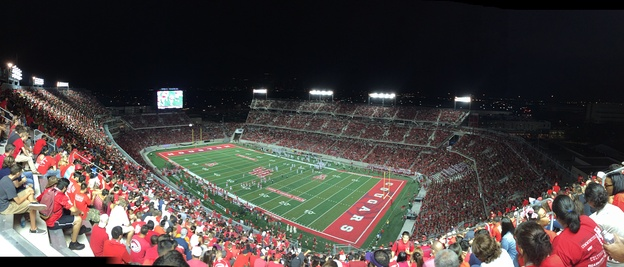Panoramic view of TDECU Stadium