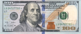 The U.S. hundred-dollar bill, Series 2009.