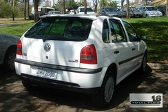 The 2003 VW Gol 1.6 Total Flex was the first full flexible-fuel vehicle produced and sold in Brazil, capable of running on any blend of gasoline (E20 to E25) and ethanol up to E100.
