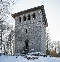 Roman tower (reconstruction) at Limes – Taunus / Germany