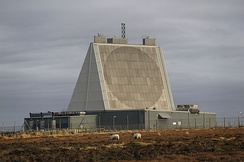 The Solid State Phased Array Radar System at RAF Fylingdales in North Yorkshire, part of the UK/US Ballistic Missile Early Warning System.
