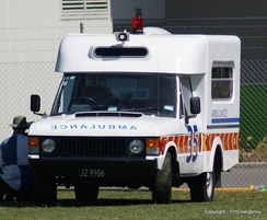 An ambulance of the Royal New Zealand Air Force built by Wadham Stringer
