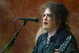 The Cure performing at Roskilde Festival 2012