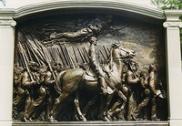Robert Gould Shaw Memorial, 1897, Boston, combining free-standing elements with high and low relief.
