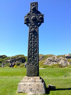 The eighth century St Martin's Cross on Iona