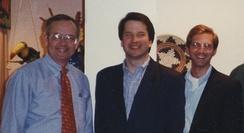 Azar with Ken Starr and Brett Kavanaugh in the 1990s