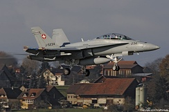F/A-18D Hornet dual at Payerne