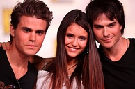 Paul Wesley, Nina Dobrev and Somerhalder in 2012