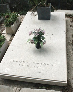 The grave of Claude Chabrol, Pere Lachaise Cemetery in Paris