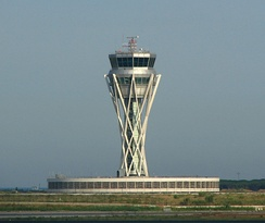 Barcelona airport tower