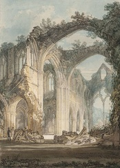 The Chancel and Crossing of Tintern Abbey, Looking towards the East Window by J. M. W. Turner, 1794