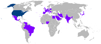 Countries visited by Carter during his presidency