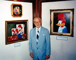 Walter Lantz with his most famous creation
