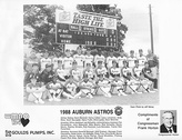 A 1988 Auburn Astros team photo