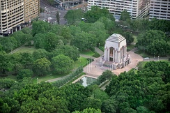 The Anzac War Memorial in Hyde Park is a public memorial dedicated to the achievement of the Australian Imperial Force of World War I.[270]