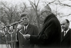 Kennedy with Chilean President Jorge Alessandri