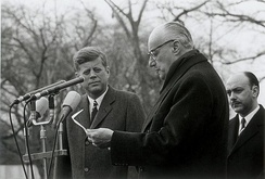 Kennedy with Chilean President Jorge Alessandri, on an official visit in December 1962