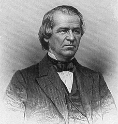 Future president Andrew Johnson from Tennessee was one of several congressmen fiercely opposed to the bill