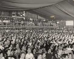 Audience at a Frontier Fiesta show, 1950s