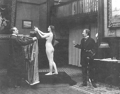 Audrey Munson in Inspiration (1915), the first non-pornographic American film containing nude scenes.