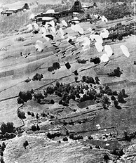 USAAF B-17 Flying Fortresses dropping supplies to the Maquis du Vercors in 1944.