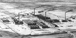 The factories of the German firm BASF, in 1866.