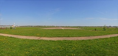 The former landing area of Tempelhof Airport in 2012, converted into open greenspace.