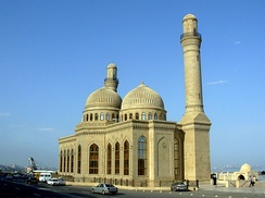 The Bibi-Heybat Mosque in Baku, Azerbaijan