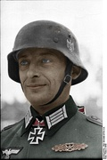 A German stahlhelm during World War II