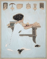 Cover art for Life, 27 January 1910 issue, illustration by Coles Phillips