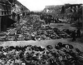 Aftermath of the British bombing raid of 3 and 4 April 1945 that destroyed the Boelcke-Kaserne .[a]