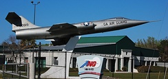 F-104 gate guardian for the Georgia Air National Guard's 165th Air Support Operations Squadron and 224th Joint Communications Support Squadron in Brunswick, Georgia