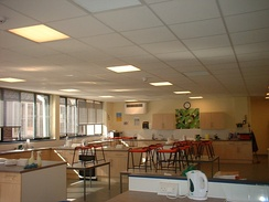The Food Technology room at Marling School in Stroud (Gloucestershire, UK)