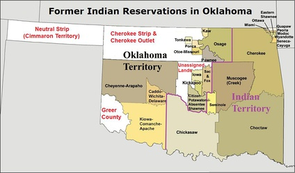 Oklahoma, the Cherokee Outlet, and Indian reservations established in the state and in the Cherokee Outlet.