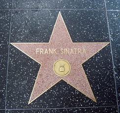 Frank Sinatra's television star on the Hollywood Walk of Fame, located on 1637 Vine Street