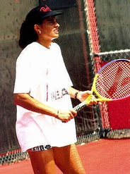 Sabatini practicing in the early 1990s