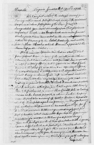 Letter from Mason to Washington, 1776, congratulating the general on his victory in the Siege of Boston