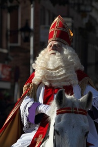 Sinterklaas, Netherlands (2009) on his horse called Slecht Weer Vandaag or Amerigo