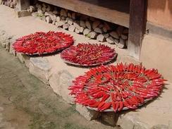 Сушка красного перца для кимчхи