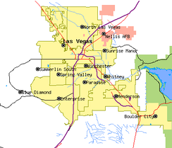 Cities and communities of the Las Vegas valley