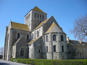 Lessay Abbey, Normandy, France.[Notes 1]