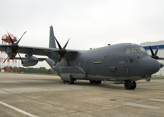 MC-130J Commando II aircraft on the tarmac at the Lockheed Martin / Air Force Plant 6 facility at Dobbins ARB, Georgia