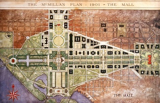 The National Mall was the centerpiece of the 1902 McMillan Plan. A central open vista traversed the length of the Mall.