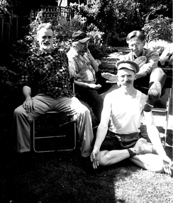 Members of The Medway Poets in 2003: Bill Lewis, Sexton Ming, Robert Earl and Billy Childish.