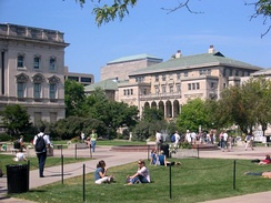 The Memorial Union as seen from the Library Mall on the UW–Madison campus