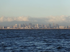 The Makati, Entertainment City and Bay City Skylines from The Manila Bay.
