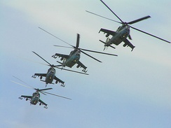Mil Mi-24 helicopters