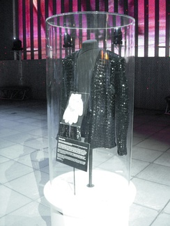 The jacket and white sequined gloves worn by Jackson at Motown 25: Yesterday, Today, Forever, one of Jackson's most famous signature looks